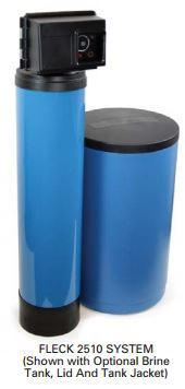 2510/16TB-110-C2441 - Fleck 2510 Time Based Water Softener with Standard Resin