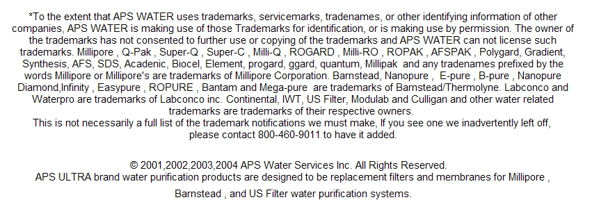 Filters For Millipore Laboratory Water Systems